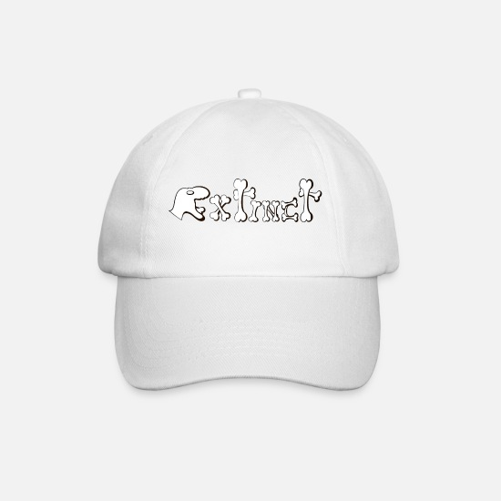 Trex Caps & Hats - Extinct - Baseball Cap white/white