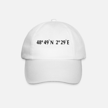 Latitude Paris - Longitude & Latitude - Baseball Cap