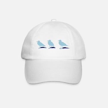 Harbour seagull gull bird harbour sailing ocean sea ship - Baseball Cap