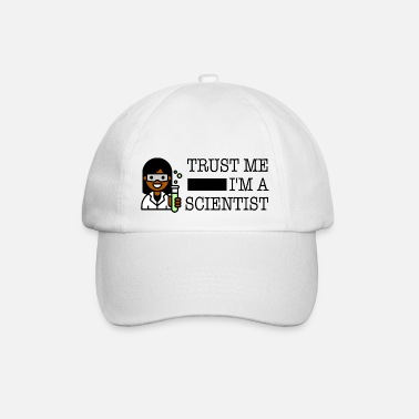 Trust me I'm a scientist female black - Baseball Cap