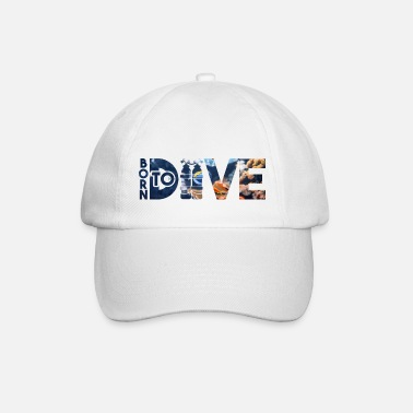 Scuba Taucher Tauchen Born to Dive - Baseball Cap