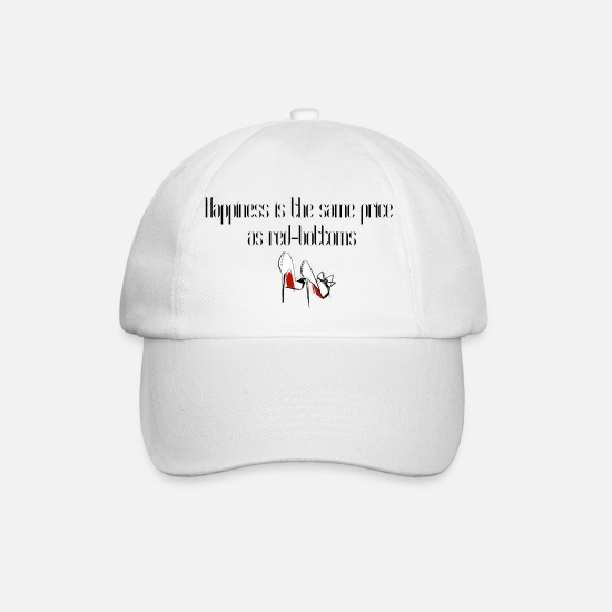 Ariana Caps & Hats - Happiness is the same price as red-bottoms - Baseball Cap white/white