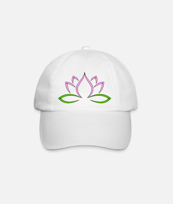 Soul Caps & Hats - lotusblüte - Baseball Cap white/white