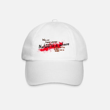Text in Blüte - Baseball Cap