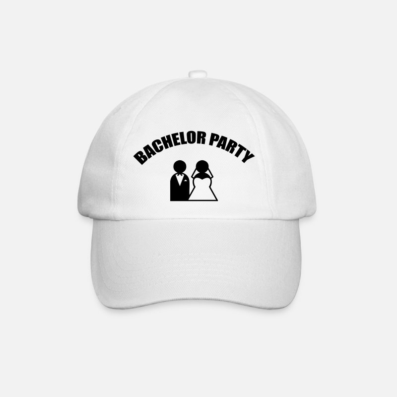 Célibataire Casquettes et bonnets - Bachelor Party - Wedding - Casquette baseball blanc/blanc