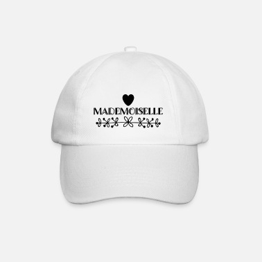 Mademoiselle saying style fashion trend heart flower - Baseball Cap