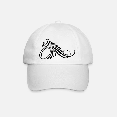 Swan tattoo for women to print - Baseball Cap
