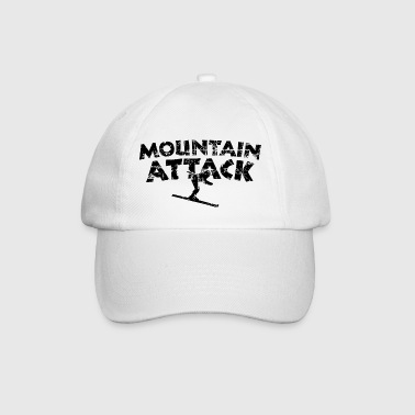 MOUNTAIN ATTACK Wintersport Ski Design (Black) - Baseballkappe