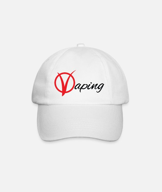 Hipster Caps & Hats - vaping - Baseball Cap white/white