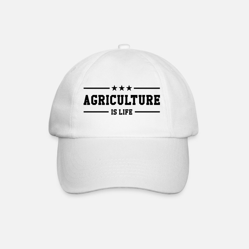 Agriculture Caps & Hats - Agriculture is life - Baseball Cap white/white