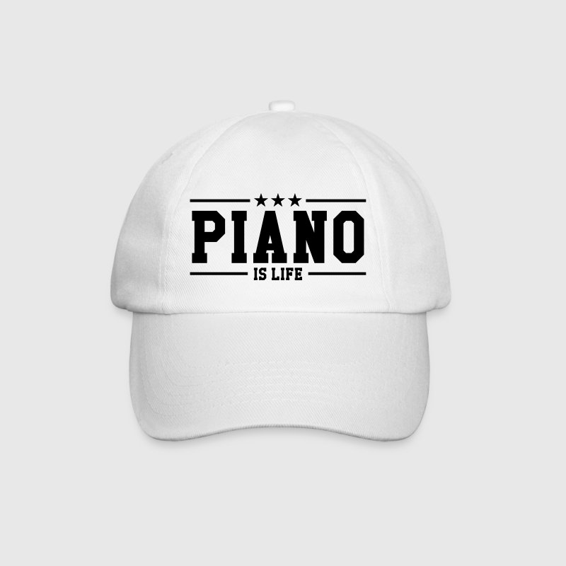 Piano is life - Gorra béisbol
