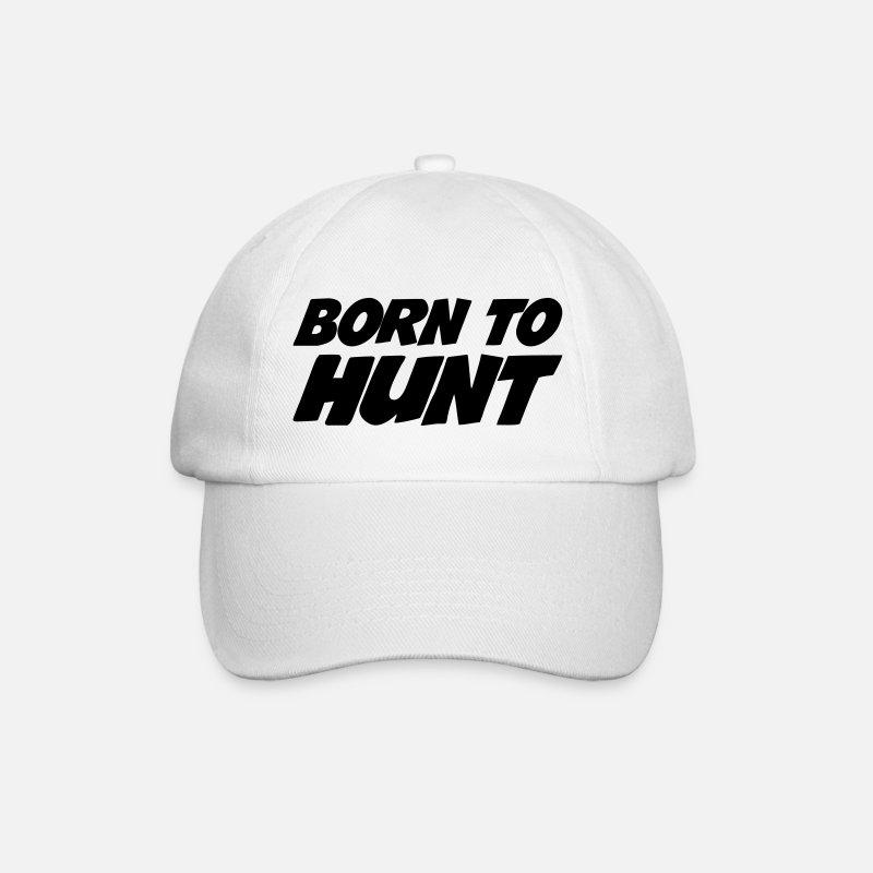1434c15b9bb Animal Caps   Hats - Born to Hunt - Baseball Cap white white