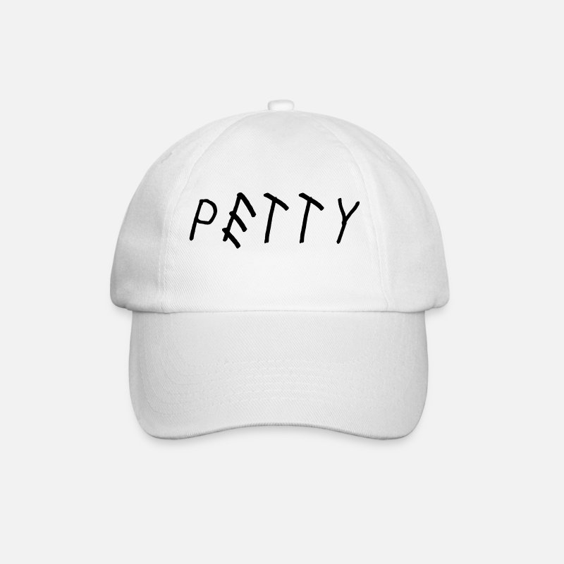 Sassy Caps & Hats - Petty - Baseball Cap white/white