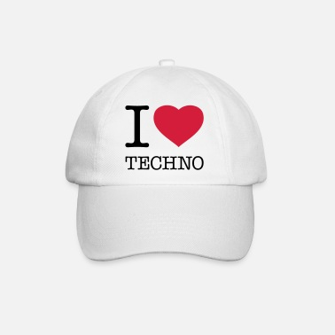 I Love Techno I LOVE TECHNO - Baseball Cap