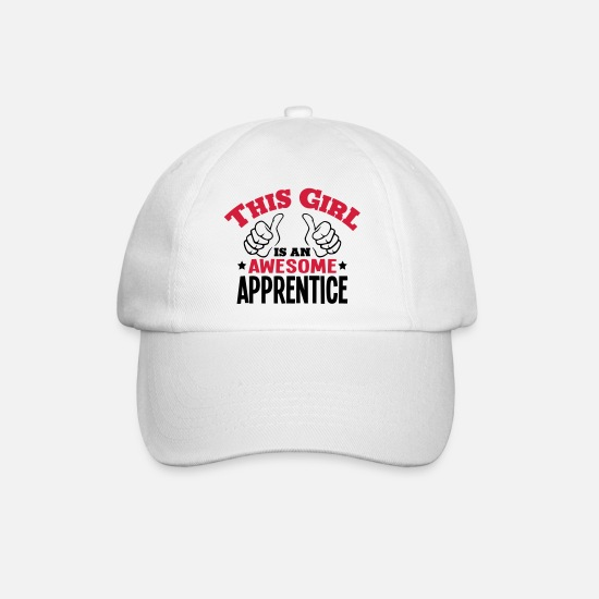 Awesome Caps & Hats - this girl is an awesome apprentice - Baseball Cap white/white