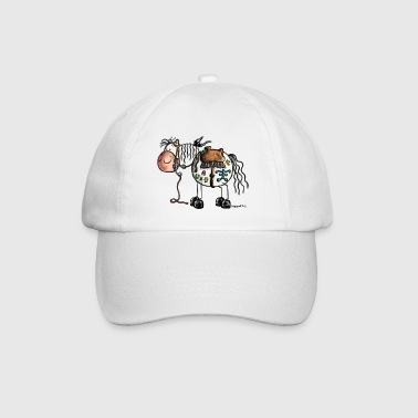 Funny Western Horse - Cartoon  - Baseball Cap