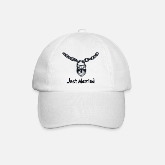 Married Caps & Hats - Just Married - Baseball Cap white/white