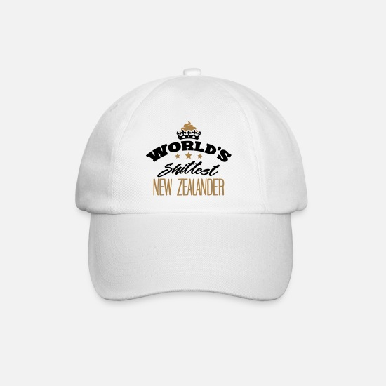 New Zealand Caps & Hats - worlds shittest new zealander - Baseball Cap white/white