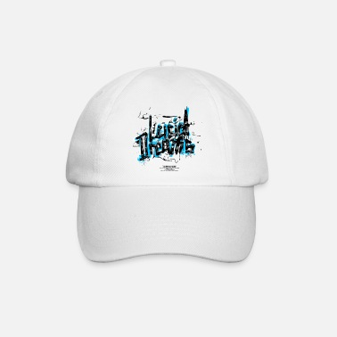Breakdance Lucid dreams - handgezeichnet - blau - Baseball Cap