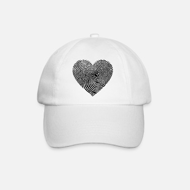 Heart Heart fingerprint black - Baseball Cap