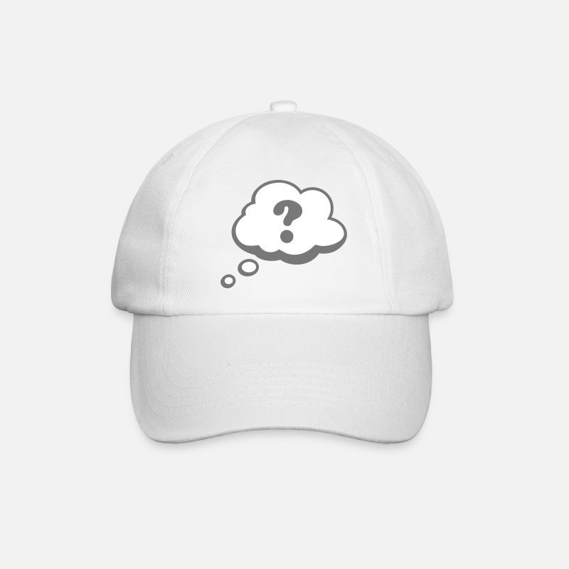 Point D'interrogation Casquettes et bonnets -  Bulle Comiques point d'interrogation - Casquette baseball blanc/blanc