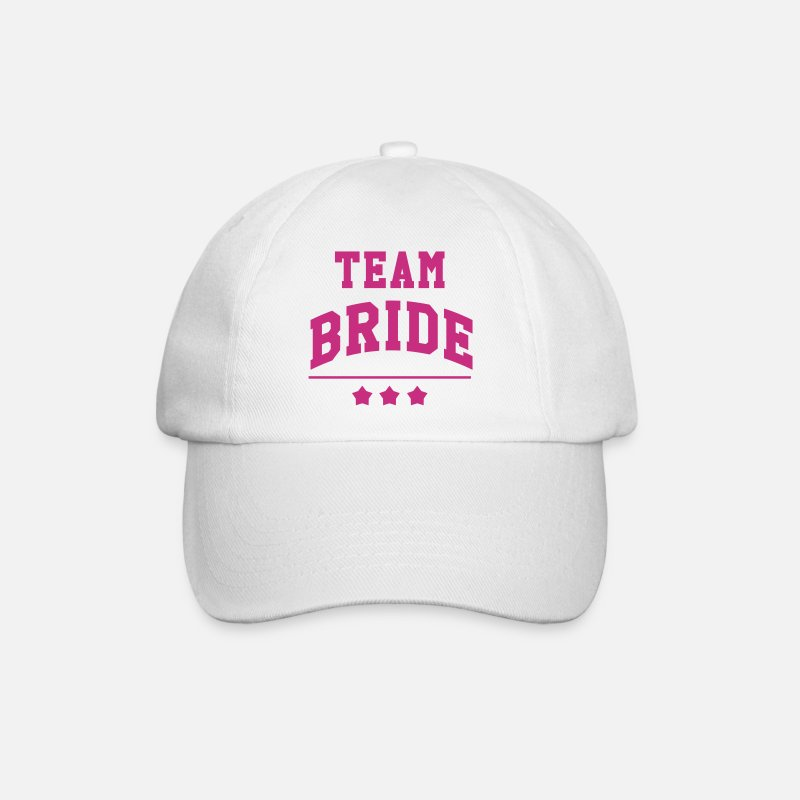 Wedding Petten & Mutsen - Team Bride - Wedding - Baseball cap wit/wit