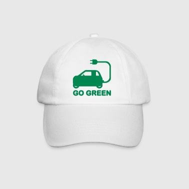 GO GREEN ~ DRIVE ELECTRIC CARS - Baseball Cap