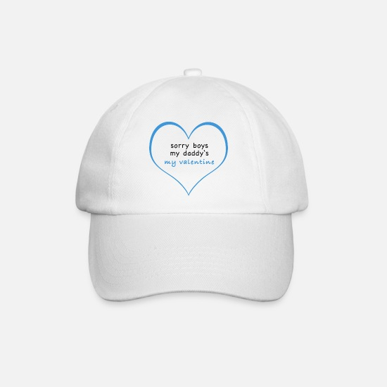 Love Caps & Hats - Gay Father Baby Valentine's Day Saying Gift - Baseball Cap white/white