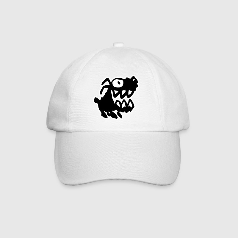 Bow Wow! Black Cartoon Dog by Cheerful Madness!! - Baseball Cap