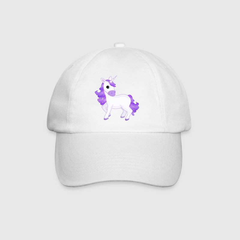 Pretty Purple Unicorn Cartoon - Czapka z daszkiem