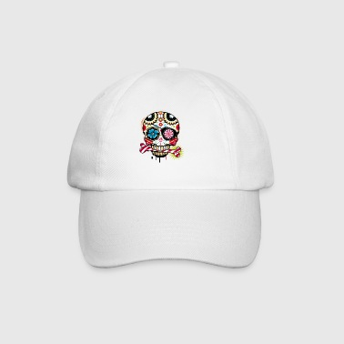 Skull with eye patch and candy cane - Baseball Cap