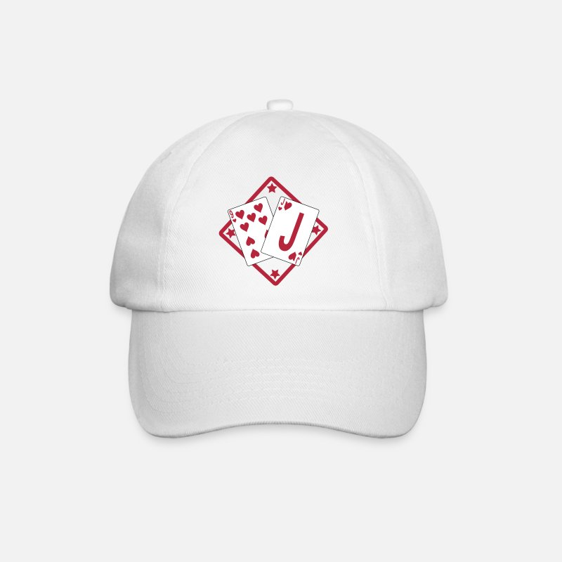 Funny Poker Caps & Hats - Jeu de cartes / Belote / Tarot / Rami / Poker - Baseball Cap white/white
