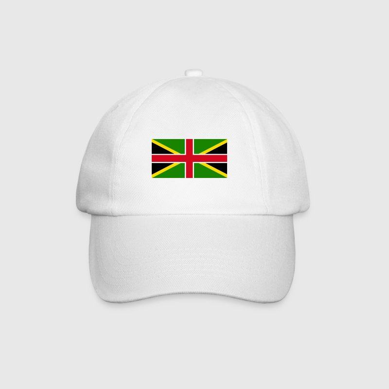 Olympics Games Jamaica England Mixed Flag - Baseball Cap