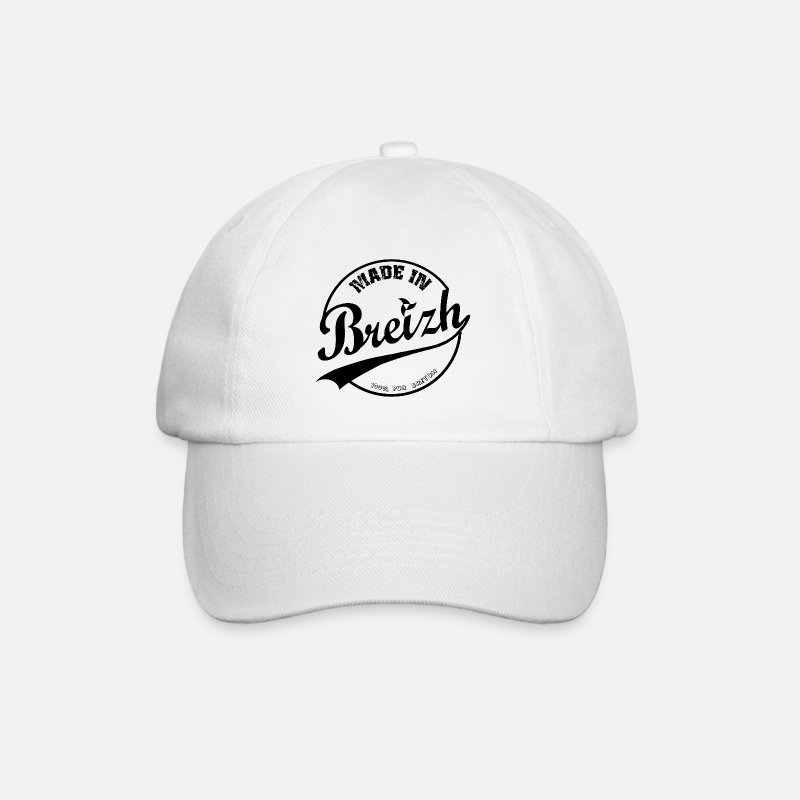 Made In Usa Casquettes et bonnets - MADE IN BREIZH BLACK - Casquette baseball blanc/blanc