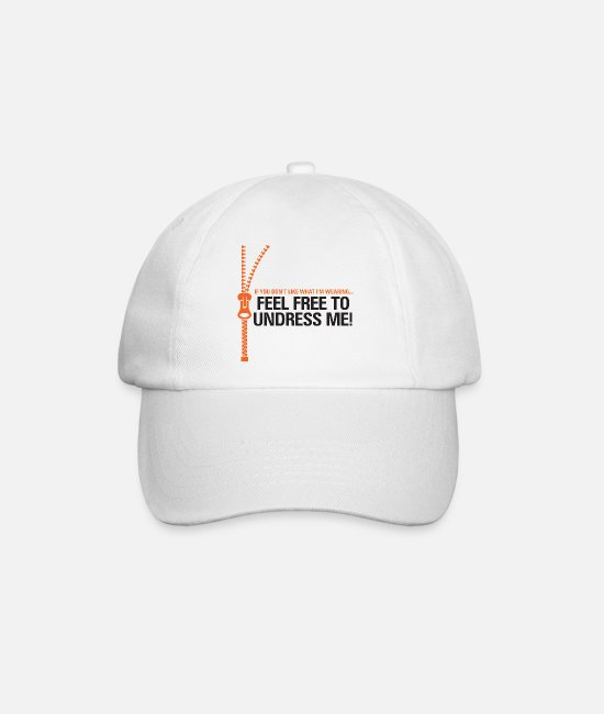 Wit Caps & Hats - You Do Not Like My Clothes? Undress Me! - Baseball Cap white/white