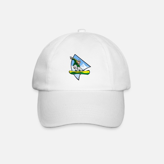 Winter Sports Caps & Hats - Snowboarder Winter sports mountains Halfpipe snow - Baseball Cap white/white