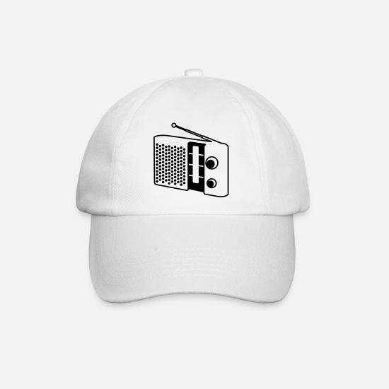 Song Caps & Hats - Radio - Baseball Cap white/white