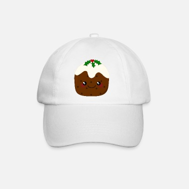 Seasonal Cute Kawaii Christmas Pudding - Baseball Cap