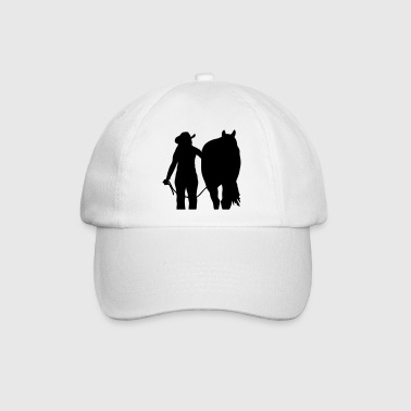 Westernriding Cowgirl and horse - Baseball Cap