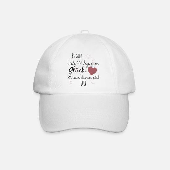Valentine's Day Caps & Hats - Dream Man Great Love Dream Woman Saying Gift - Baseball Cap white/white