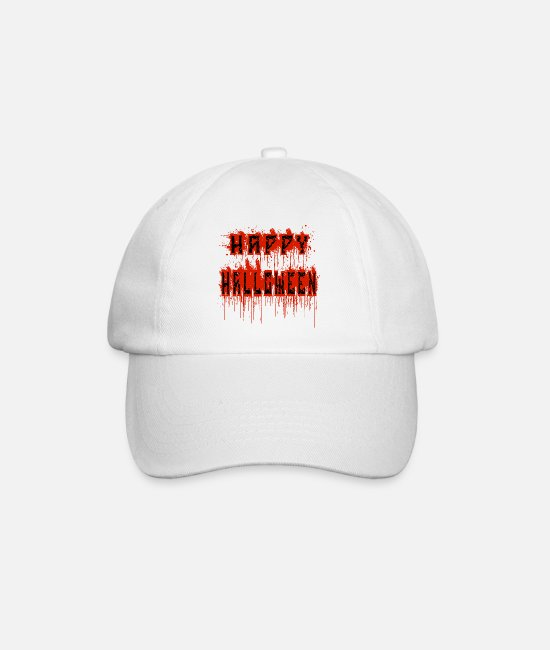 Ghastly Caps & Hats - halloween bloody - Baseball Cap white/white