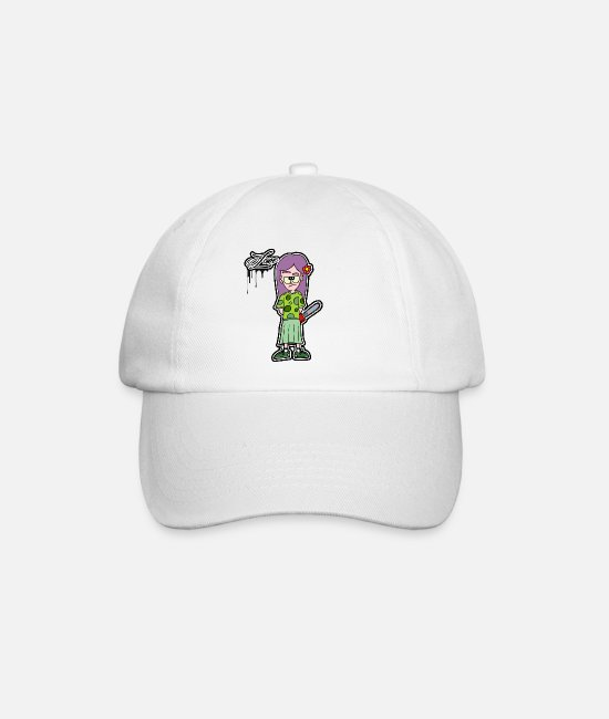 Chain Saw Caps & Hats - girl with chainsaw - Baseball Cap white/white