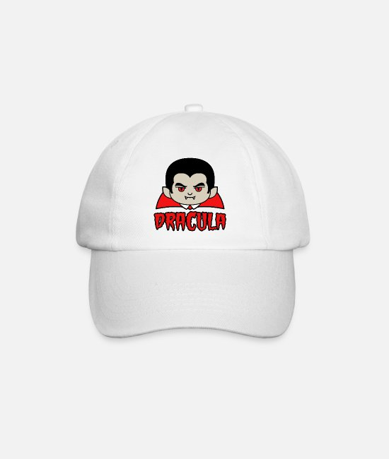Horror Caps & Hats - DRACULA - Baseball Cap white/white