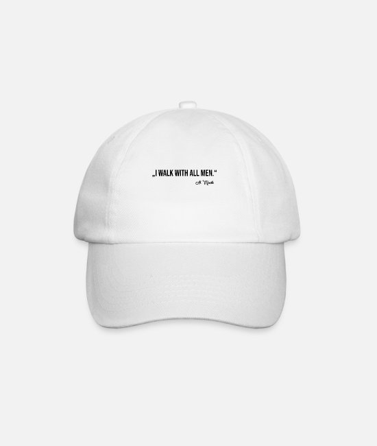 Belief Caps & Hats - WALK WITH ALL MEN - Baseball Cap white/white