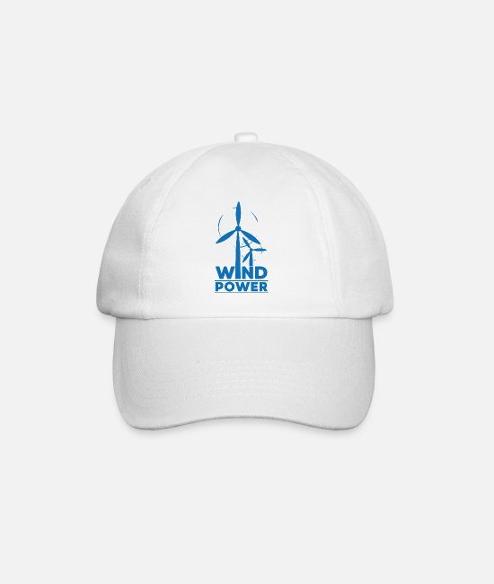 Nature Caps & Hats - Wind power environmental protection gift environment - Baseball Cap white/white