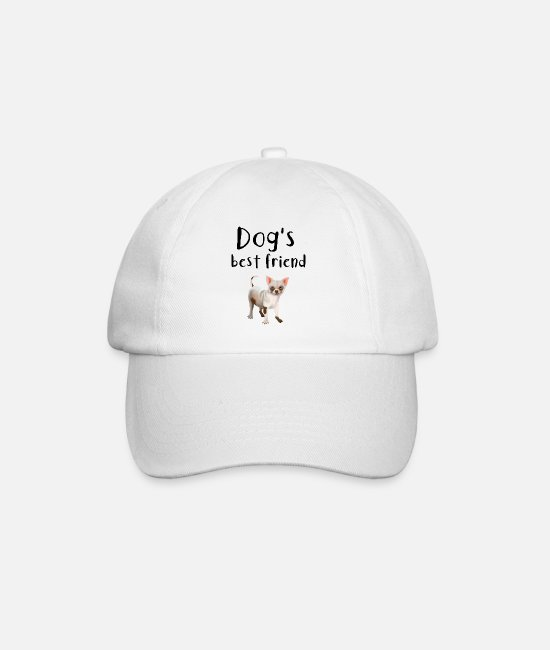 Doggie Caps & Hats - Dog Chihuahua - dogs best friend - Baseball Cap white/white