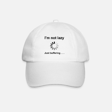 Geek I'm Not Lazy - I'm Buffering (Black) - Baseball Cap