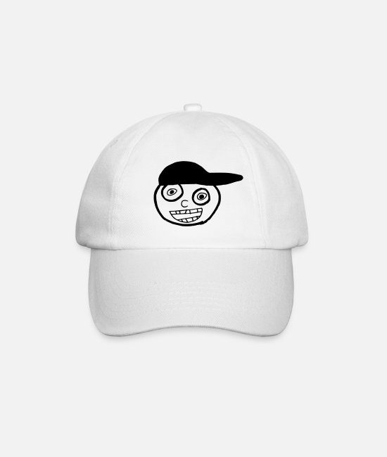 Doodle Caps & Hats - Kid In A Cap Full Face - Baseball Cap white/white