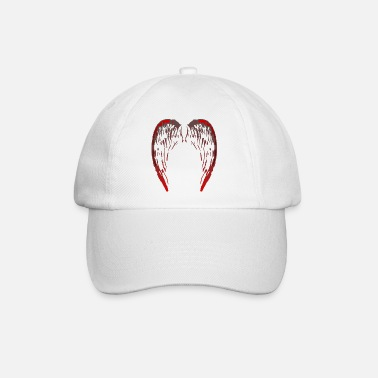 TeeCust n°43 - Ailes d'ange gris/rouge - Casquette baseball