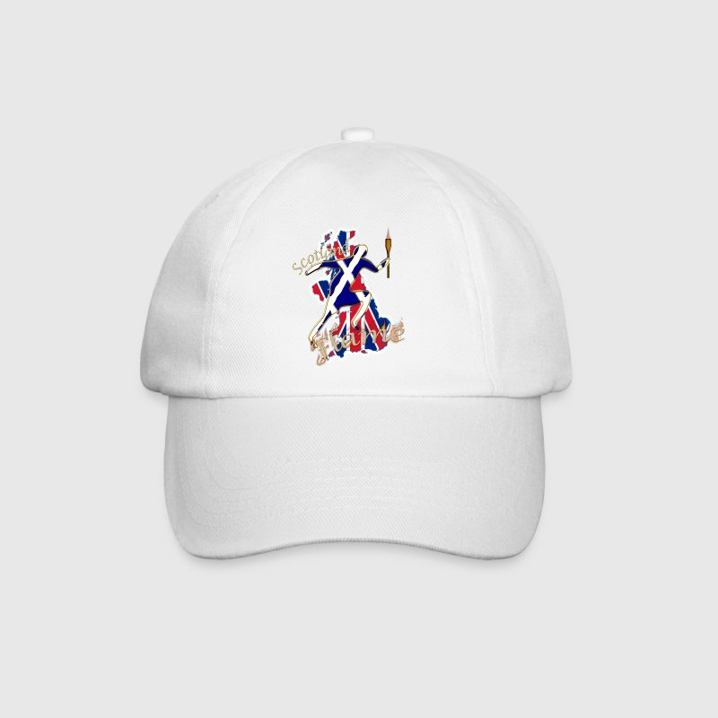 scotland saltire uk sport torch runner - Baseball Cap